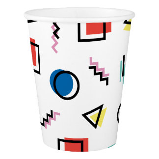 80's Memphis Abstract Style Paper Cup