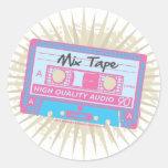 80's Mix Tape Round Stickers
