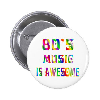 80s Music 6 Cm Round Badge