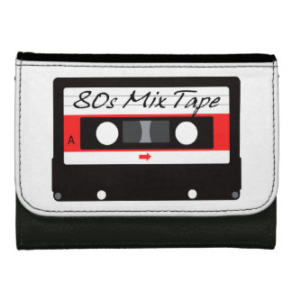 80s Music Mix Tape Cassette Wallets