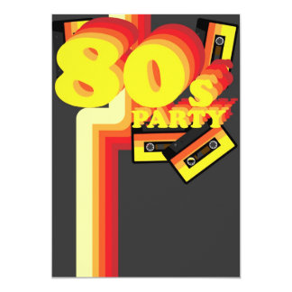 80s Party 13 Cm X 18 Cm Invitation Card