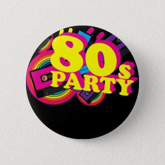 80s Party 6 Cm Round Badge