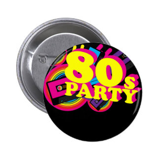 80s Party 6 Cm Round Badge