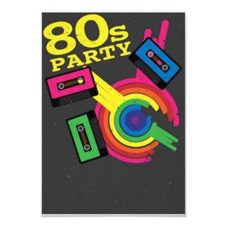 80s party 9 cm x 13 cm invitation card
