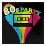 80s Party Background Poster