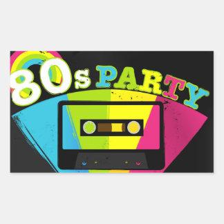 80s Party Background Rectangular Sticker