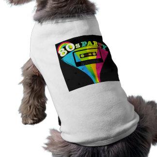 80s Party Background Sleeveless Dog Shirt