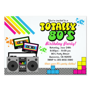 80s Party Invitations Announcements Zazzlecouk