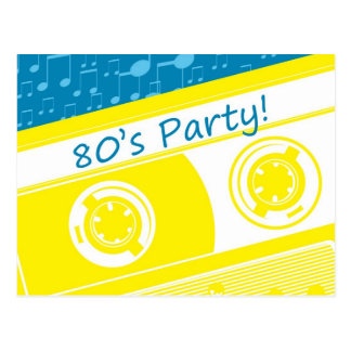 80s Party Postcard