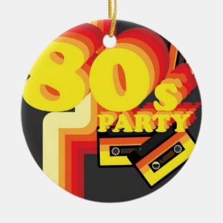 80s Party Round Ceramic Decoration