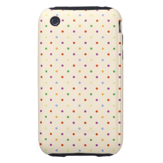 80s petite rainbow girly cute polka dots pattern tough iPhone 3 case