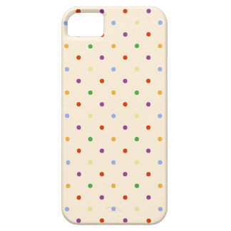 80s petite rainbow multi-colour polka dots pattern iPhone 5 cover