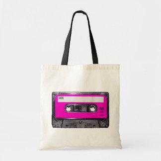 80's Pink Label Cassette Tote Bag