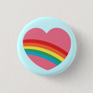 80s Rainbow Heart Button