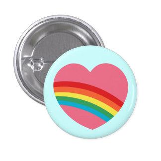 80s Rainbow Heart Button