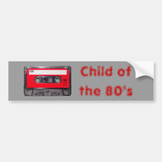 80's Red Label Cassette Bumper Sticker