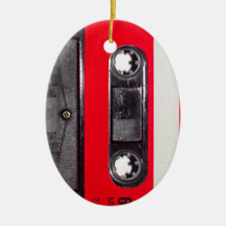 80's Red Label Cassette Christmas Ornaments