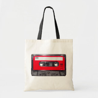 80's Red Label Cassette Tote Bag