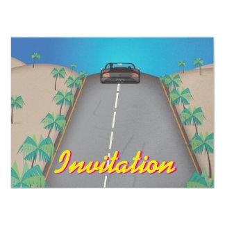 80s Retro Arcade Race 17 Cm X 22 Cm Invitation Card