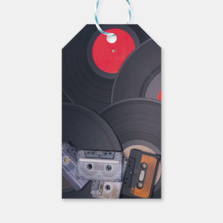80's Retro Cassette Tapes and Vinyl Records Gift Tags