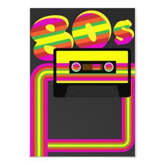 80s Retro Party 13 Cm X 18 Cm Invitation Card