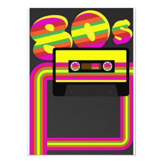80s Retro Party 14 Cm X 19 Cm Invitation Card