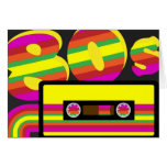 80s Retro Party Greeting Card
