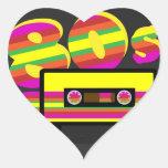 80s Retro Party Heart Sticker