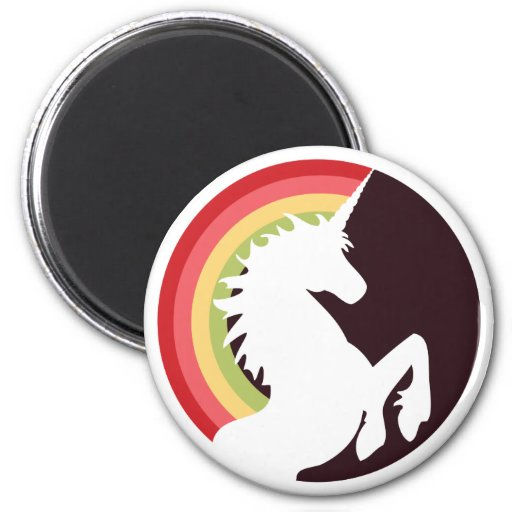 80's Retro Rainbow and Unicorn Magnet Refrigerator Magnet
