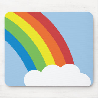 80's Retro Rainbow Mousepad