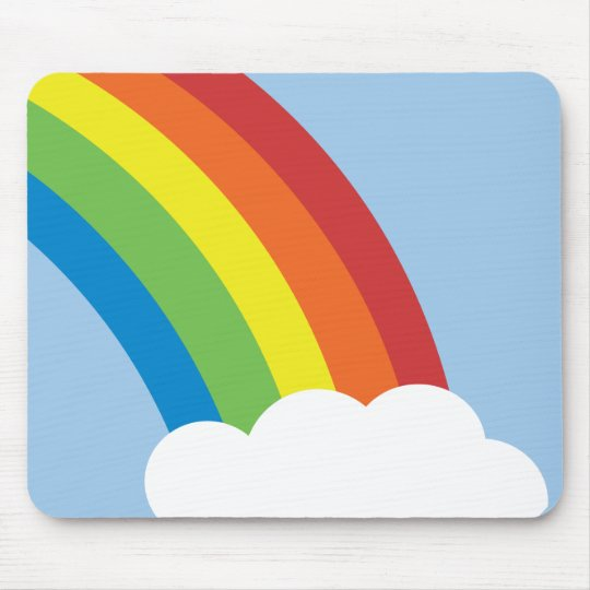 80's Retro Rainbow Mousepad