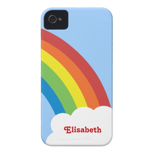 80's Retro Rainbow Personalised iPhone 4/4S Case