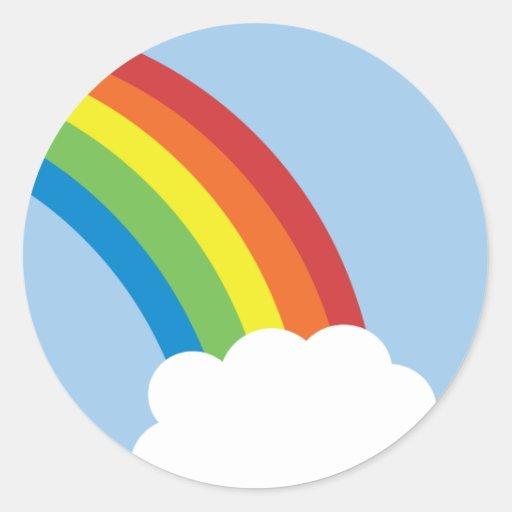 80's Retro Rainbow Stickers