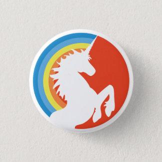 80's Retro Unicorn and Rainbow Button