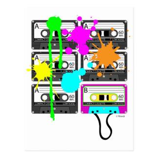 80s Splat Mix Tape Postcard
