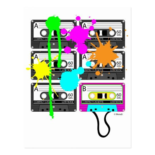 80s Splat Mix Tape Postcard