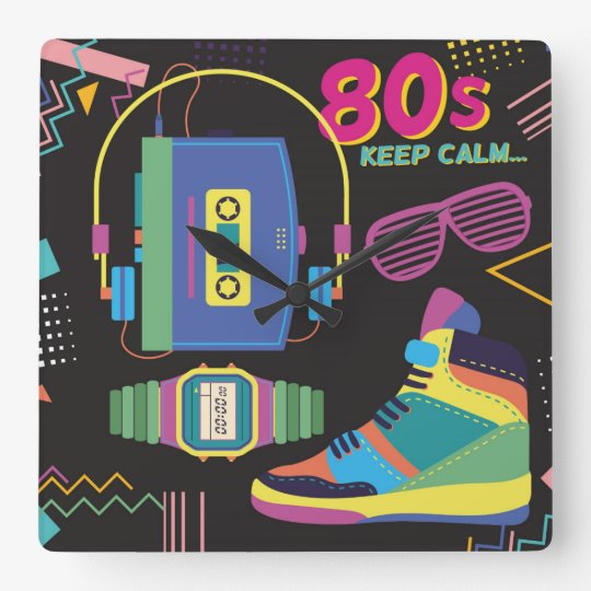 80's square wall clock