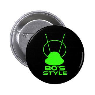 80s Style 6 Cm Round Badge