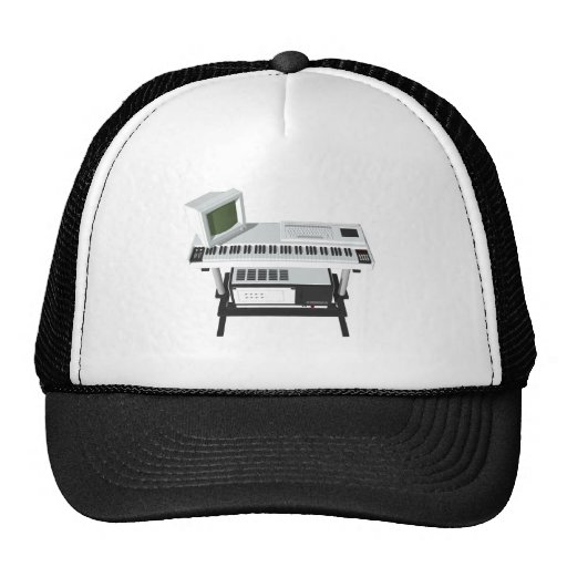 80's Style Sampler Keyboard: 3D Model: Hat