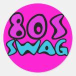 80s swag classic round sticker