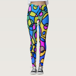 80's Throwback COLORFUL Retro Leggings