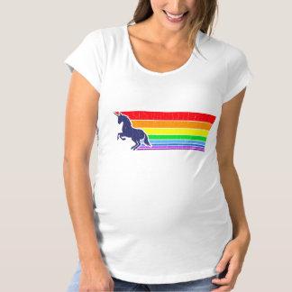 '80s Vintage Unicorn Rainbow (distressed look) Maternity T-Shirt