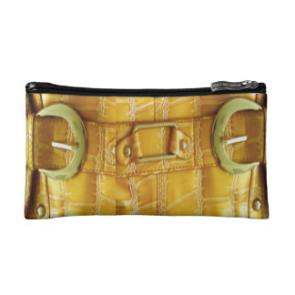 80's Yellow Gold Style Cosmetic Bag