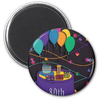 80th 6 cm round magnet