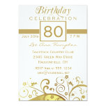 80th - 89th Birthday Party Invitations 13 Cm X 18 Cm Invitation Card