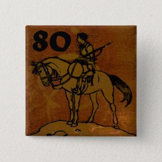 80th Birthday 15 Cm Square Badge