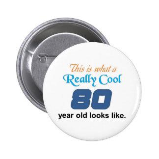 80th Birthday 6 Cm Round Badge