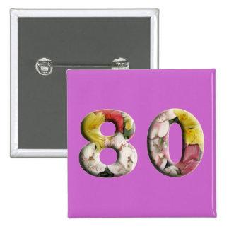 80th Birthday Anniversary 80 Years Milestone Pin