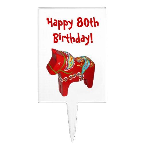 80th Birthday Cake Pick