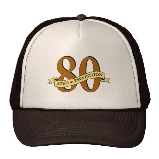 80th Birthday Cap Mesh Hat